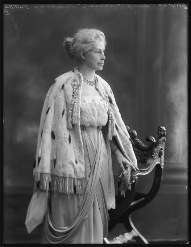 Kate Harriet (née Burfield), Lady Lindsay, by Bassano Ltd, 21 April 1920 - NPG x120485 - © National Portrait Gallery, London