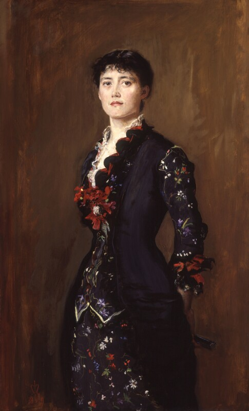 Louise Jane Jopling (née Goode, later Rowe), by Sir John Everett Millais, 1st Bt, 1879 - NPG 6612 - © National Portrait Gallery, London