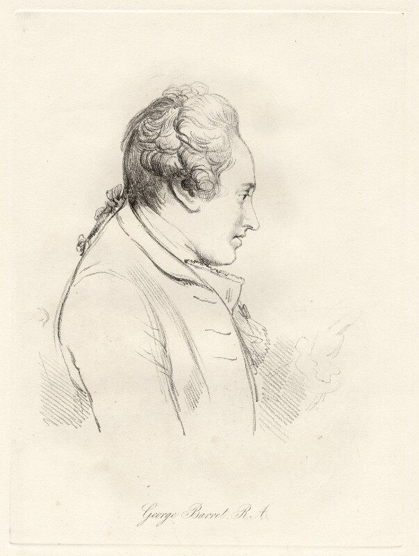 George Barret, by William Daniell, after  George Dance, published 1854 - NPG D12046 - © National Portrait Gallery, London