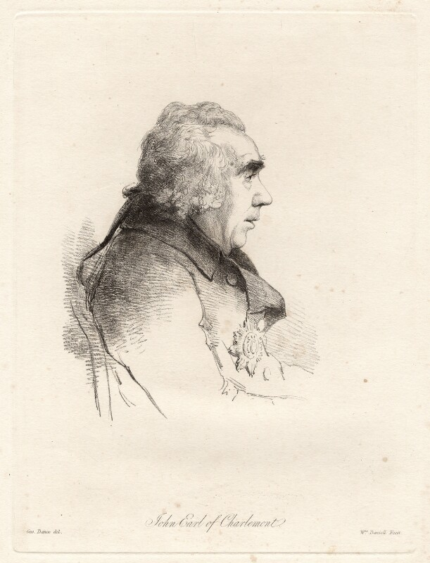 James Caulfeild, 1st Earl of Charlemont, by William Daniell, after  George Dance, published 2 April 1814 (August 1795) - NPG D12053 - © National Portrait Gallery, London
