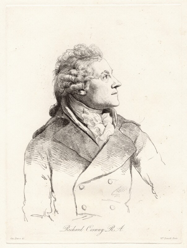 Richard Cosway, by William Daniell, after  George Dance, (6 April 1793) - NPG D12058 - © National Portrait Gallery, London
