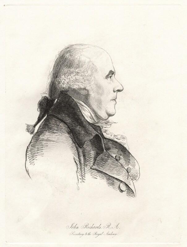John Inigo Richards, by William Daniell, after  George Dance, (11 March 1793) - NPG D12095 - © National Portrait Gallery, London