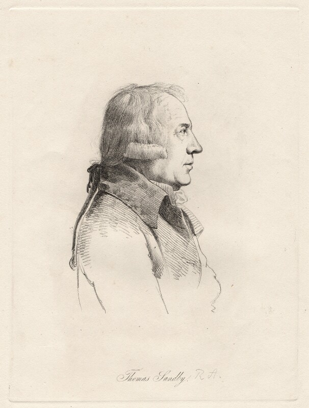 Thomas Sandby, by William Daniell, after  George Dance, (24 March 1793) - NPG D12100 - © National Portrait Gallery, London