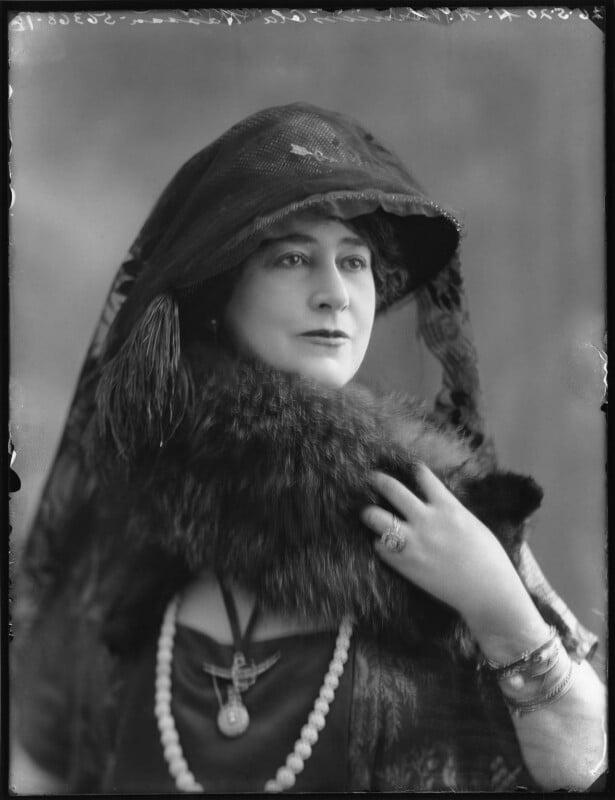 Princess Ola Hassan (née Ola Humphrey), by Bassano Ltd, 26 May 1920 - NPG x120602 - © National Portrait Gallery, London