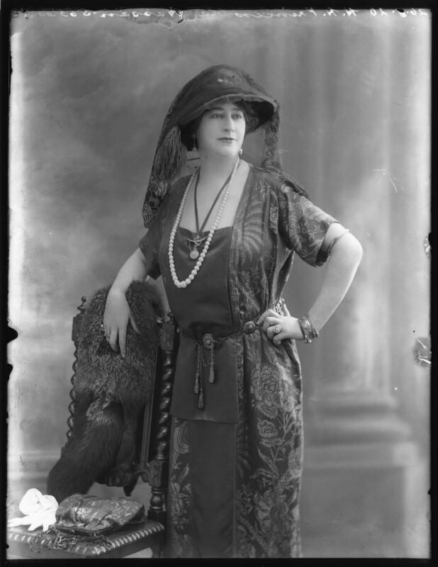 Princess Ola Hassan (née Ola Humphrey), by Bassano Ltd, 26 May 1920 - NPG x120606 - © National Portrait Gallery, London