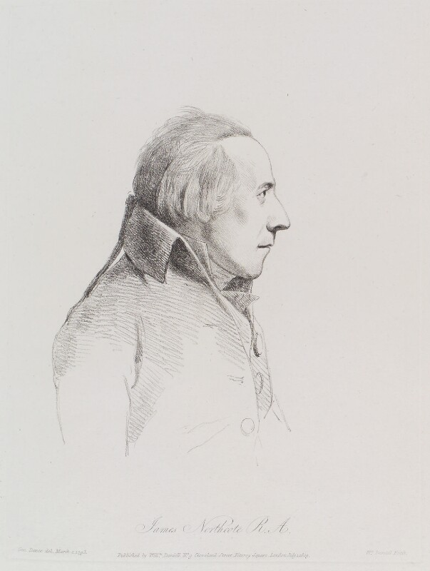 James Northcote, by William Daniell, after  George Dance, published 1 July 1809 (2 March 1793) - NPG D12133 - © National Portrait Gallery, London