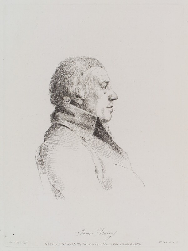 James Barry, by William Daniell, after  George Dance, published 1 July 1809 (2 April 1793) - NPG D12136 - © National Portrait Gallery, London