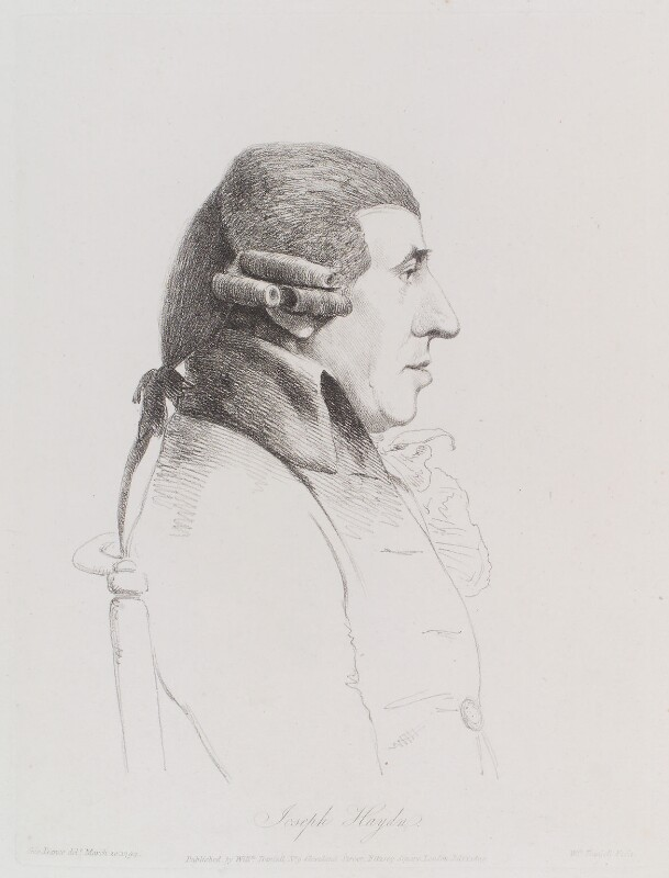 Joseph Haydn, by William Daniell, after  George Dance, published 1 July 1809 (20 March 1794) - NPG D12137 - © National Portrait Gallery, London