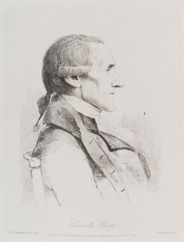 Granville Sharp, by William Daniell, after  George Dance, published 15 December 1809 (3 July 1794) - NPG D12144 - © National Portrait Gallery, London