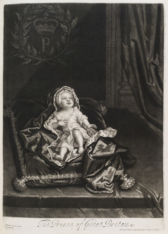 Prince James Francis Edward Stuart, by and published by John Smith, after  Sir Godfrey Kneller, Bt, 1688 - NPG D11540 - © National Portrait Gallery, London