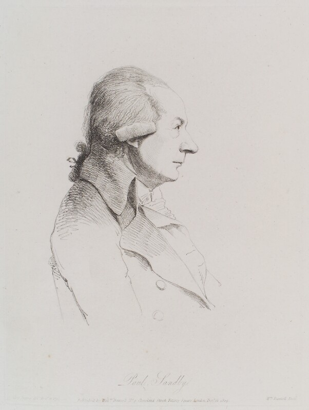 Paul Sandby, by and published by William Daniell, after  George Dance, published 15 December 1809 (21 December 1794) - NPG D12148 - © National Portrait Gallery, London