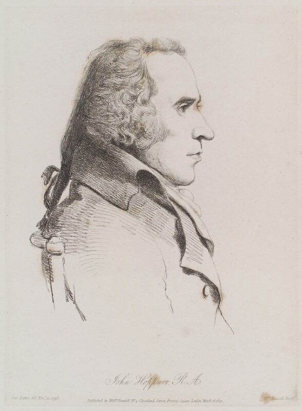 John Hoppner, by William Daniell, after  George Dance, published 15 March 1810 (10 November 1793) - NPG D12150 - © National Portrait Gallery, London