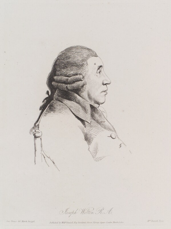 Joseph Wilton, by William Daniell, after  George Dance, published 15 March 1810 (30 March 1793) - NPG D12153 - © National Portrait Gallery, London