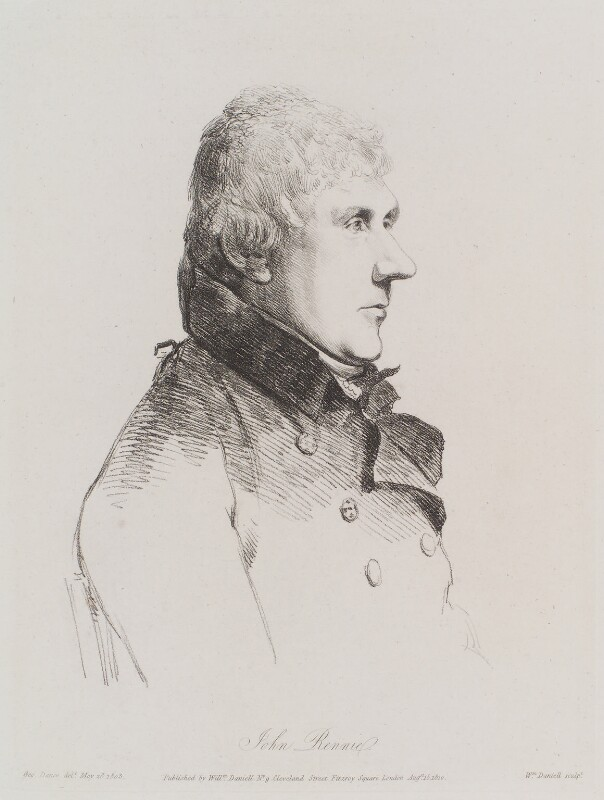 John Rennie Sr, by and published by William Daniell, after  George Dance, published 15 August 1810 (28 May 1803) - NPG D12160 - © National Portrait Gallery, London
