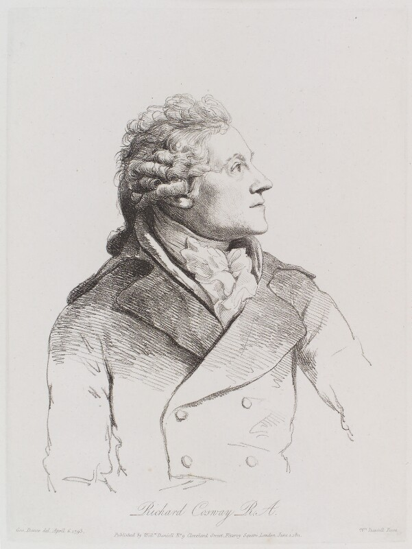 Richard Cosway, by William Daniell, after  George Dance, published 1 June 1811 (6 April 1793) - NPG D12165 - © National Portrait Gallery, London