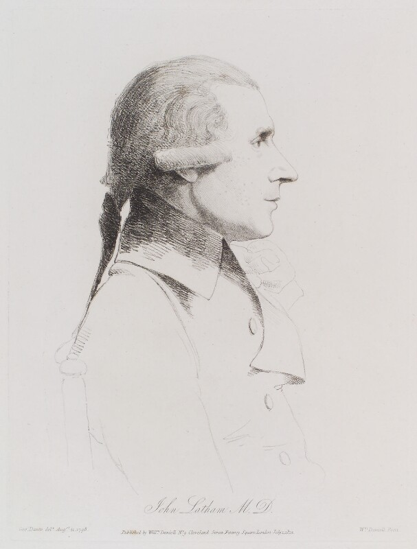 John Latham, by William Daniell, after  George Dance, published 1 July 1812 (21 August 1798) - NPG D12168 - © National Portrait Gallery, London