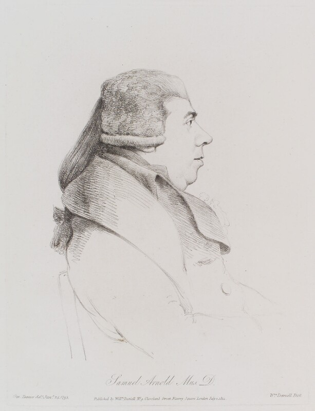 Samuel Arnold, by William Daniell, after  George Dance, published 1 July 1812 (25 January 1795) - NPG D12170 - © National Portrait Gallery, London