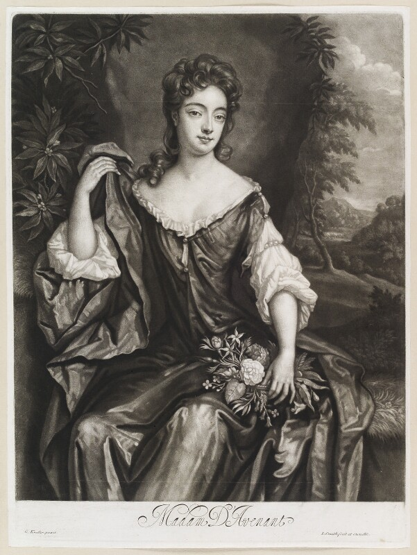 Madam D'Avenant, by and published by John Smith, after  Sir Godfrey Kneller, Bt, 1689 - NPG D11618 - © National Portrait Gallery, London