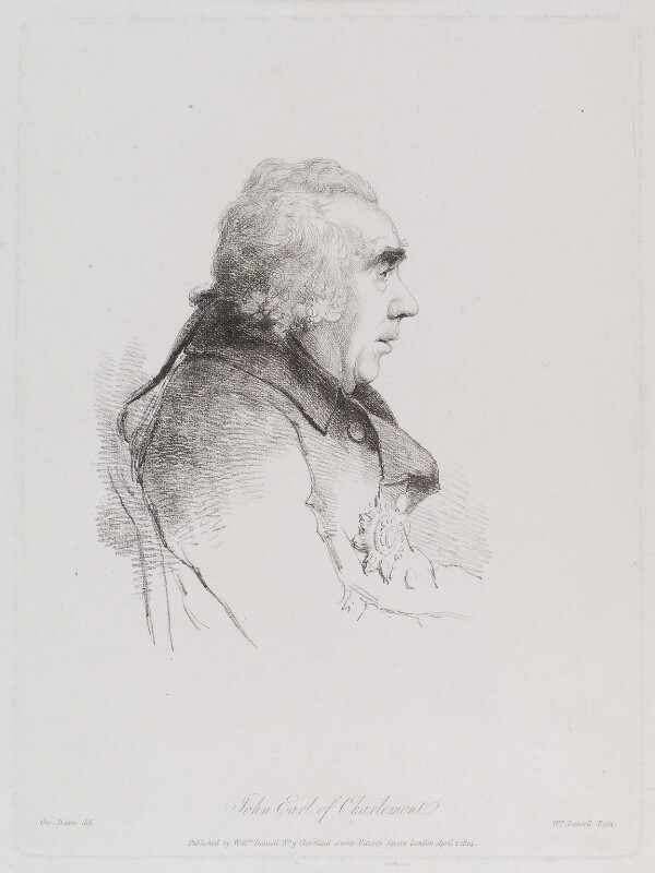James Caulfeild, 1st Earl of Charlemont, by William Daniell, after  George Dance, published 2 April 1814 (August 1795) - NPG D12179 - © National Portrait Gallery, London