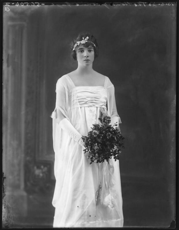 Yvonne Rosamund Van Der Horst (née Gage), by Bassano Ltd, 10 June 1920 - NPG x78707 - © National Portrait Gallery, London
