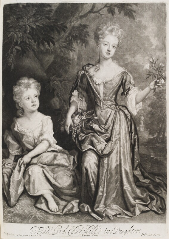 Countess of Sunderland and Duchess of Marlborough, by and published by John Smith, after  Sir Godfrey Kneller, Bt, 1688 (1688) - NPG D11546 - © National Portrait Gallery, London