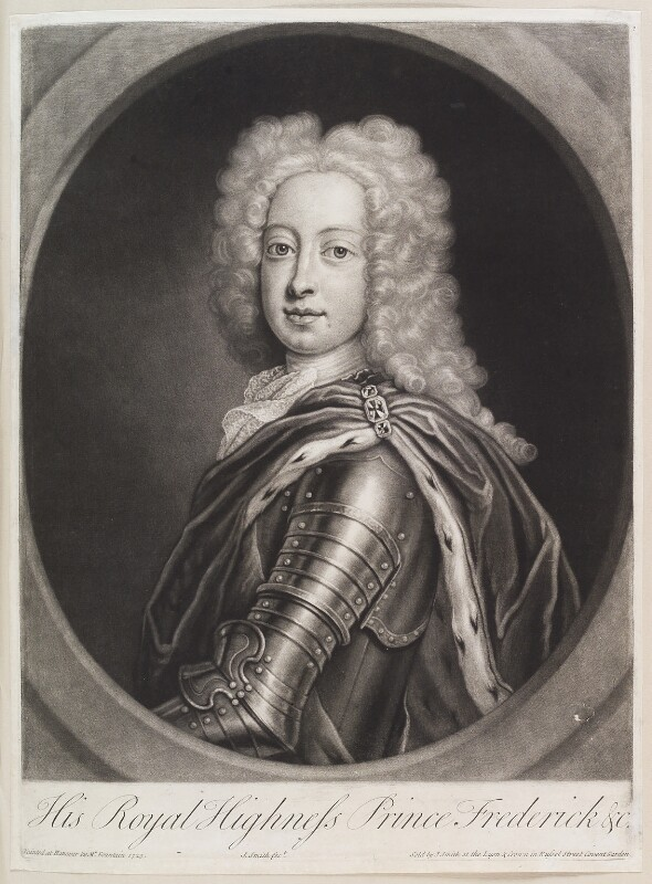 Frederick Lewis, Prince of Wales, by and published by John Smith, after  Georg Wilhelm Lafontaine (Fountain, Fontaine), 1724 (1723) - NPG D11643 - © National Portrait Gallery, London