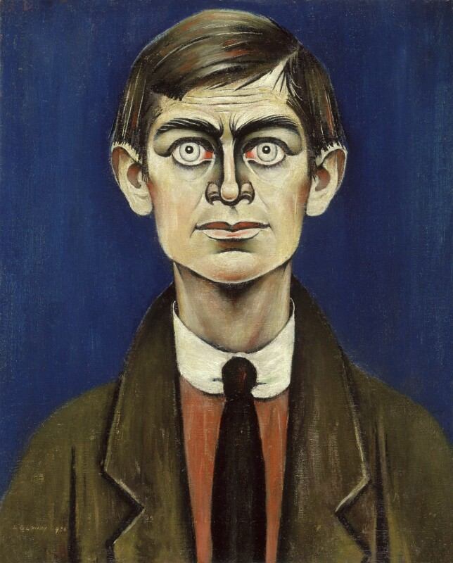 L.S. Lowry, by L.S. Lowry, 1938 - NPG L224 - © Rothschild Trust Company Inc; on loan to the National Portrait Gallery, London
