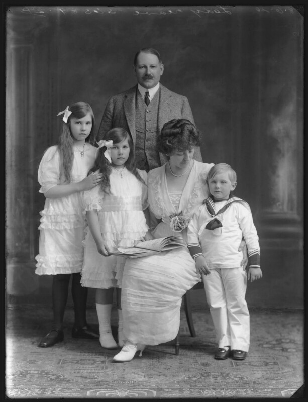 Dorina Parsons; Renée Williams-Bulkeley; Sir Thomas Neave, 5th Bt; Lady Dorina Neave; Sir Arundell Neave, 6th Bt, by Bassano Ltd, 18 June 1920 - NPG x78745 - © National Portrait Gallery, London