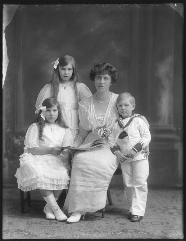 Renée Williams-Bulkeley; Dorina Parsons; Lady Dorina Neave; Sir Arundell Neave, 6th Bt, by Bassano Ltd, 18 June 1920 - NPG x78746 - © National Portrait Gallery, London