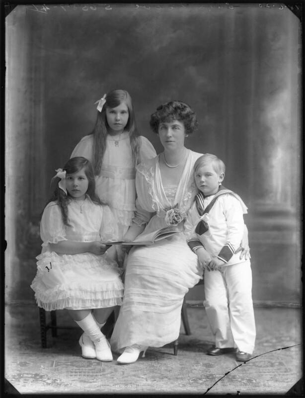 Renée Williams-Bulkeley; Dorina Parsons; Lady Dorina Neave; Sir Arundell Neave, 6th Bt, by Bassano Ltd, 18 June 1920 - NPG x78747 - © National Portrait Gallery, London