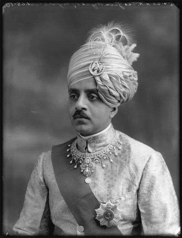 Sir Sri Kanthirava Narasimharaja Wadiyar Bahadur, Yuvaraja of Mysore, by Bassano Ltd, 24 June 1920 - NPG x78798 - © National Portrait Gallery, London