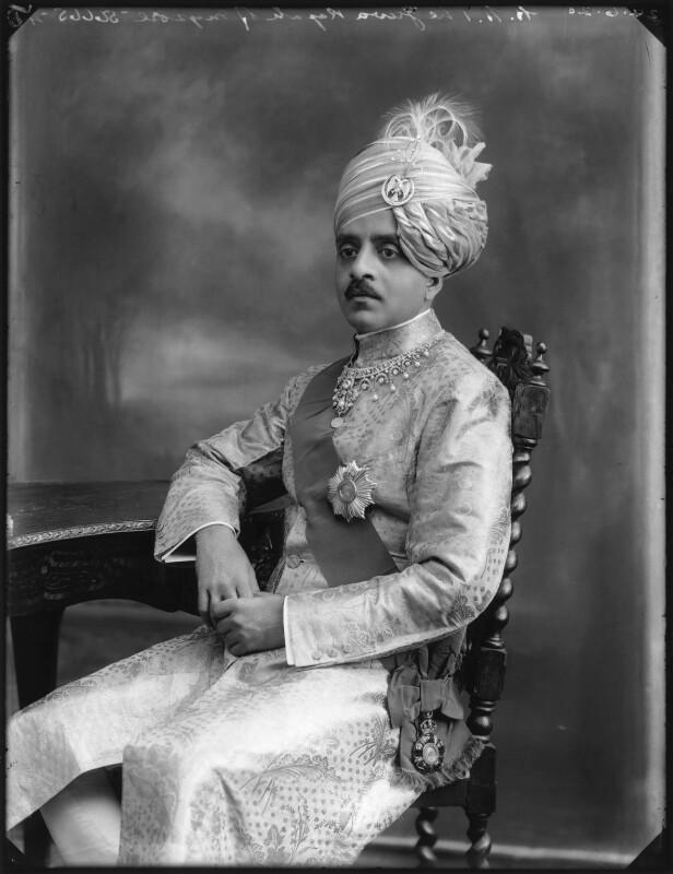 Sir Sri Kanthirava Narasimharaja Wadiyar Bahadur, Yuvaraja of Mysore, by Bassano Ltd, 24 June 1920 - NPG x78801 - © National Portrait Gallery, London