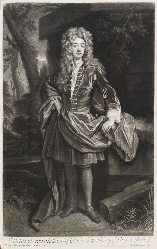 John Perceval, 1st Earl of Egmont, by and published by John Smith, after  Sir Godfrey Kneller, Bt, 1708 (1704) - NPG D11553 - © National Portrait Gallery, London