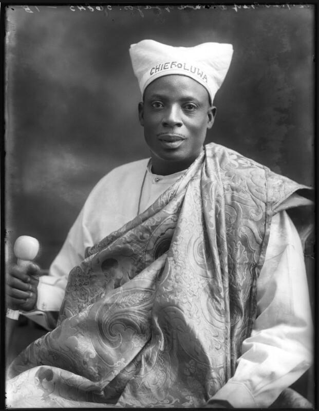 Amodu Tijani, Chief Oluwa of Lagos, by Bassano Ltd, 12 July 1920 - NPG x75017 - © National Portrait Gallery, London