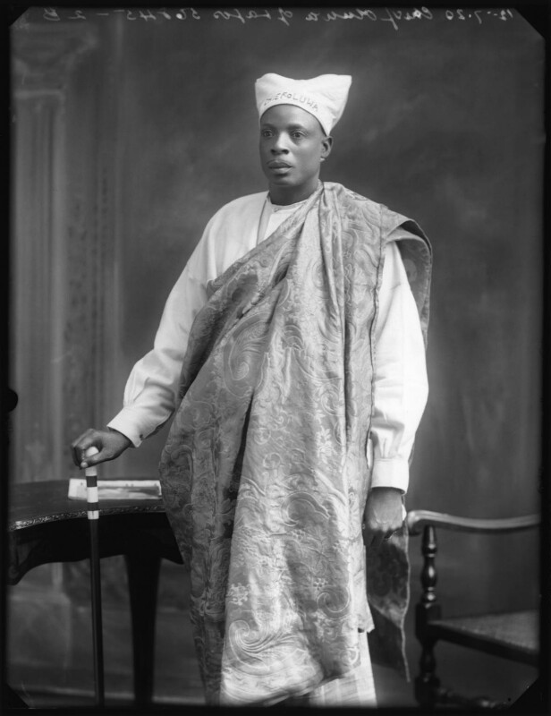 Amodu Tijani, Chief Oluwa of Lagos, by Bassano Ltd, 12 July 1920 - NPG x75018 - © National Portrait Gallery, London
