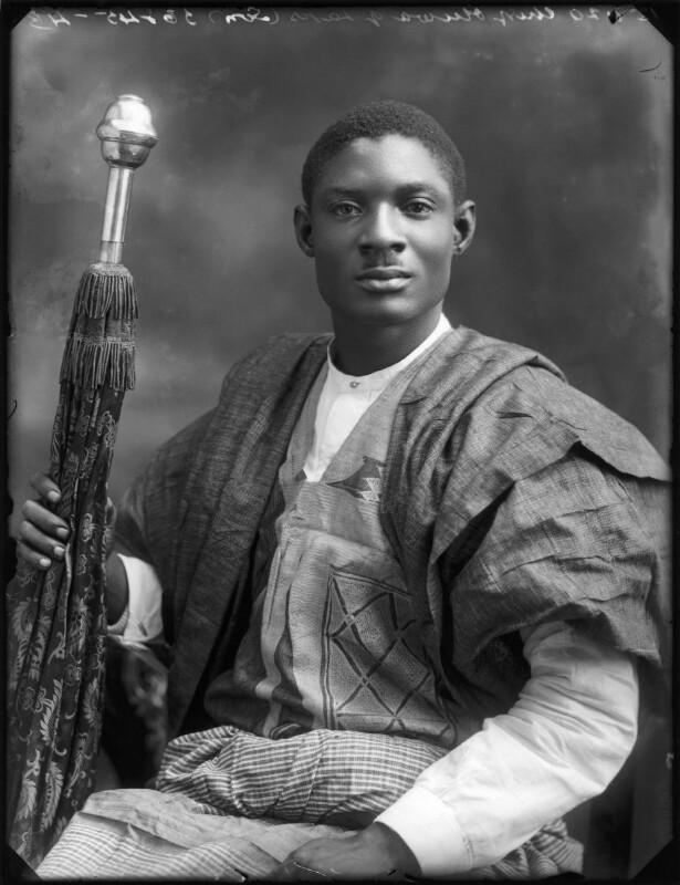 Son of Amodu Tijani, Chief Oluwa of Lagos, by Bassano Ltd, 12 July 1920 - NPG x75020 - © National Portrait Gallery, London