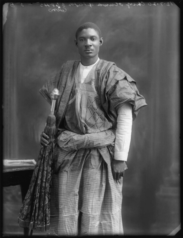 Son of Amodu Tijani, Chief Oluwa of Lagos, by Bassano Ltd, 12 July 1920 - NPG x75021 - © National Portrait Gallery, London