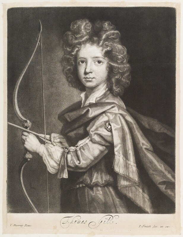 Thomas Gill, by and published by John Smith, after  Thomas Murray, 1694 - NPG D11762 - © National Portrait Gallery, London