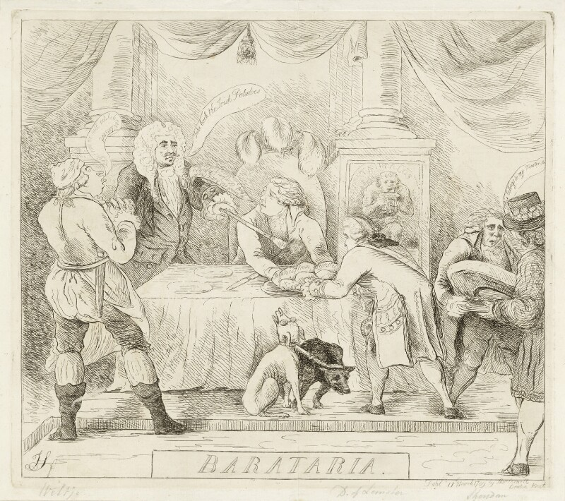 'Barataria', by James Sayers, published by  Thomas Cornell, published 11 March 1789 - NPG D12253 - © National Portrait Gallery, London