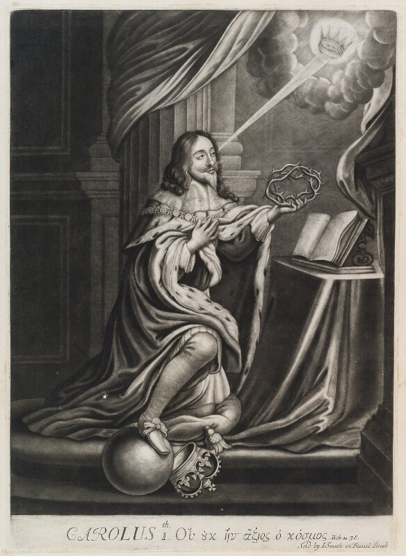 King Charles I, published by John Smith, circa 1683-1729 - NPG D11909 - © National Portrait Gallery, London