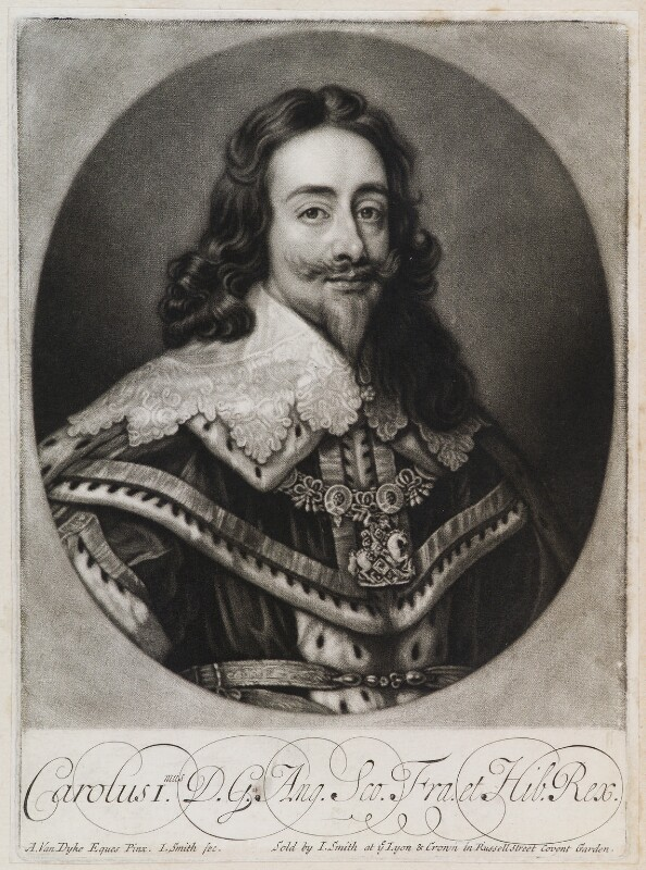 King Charles I, by and published by John Smith, after  Sir Anthony van Dyck, 1718? (1636) - NPG D11913 - © National Portrait Gallery, London