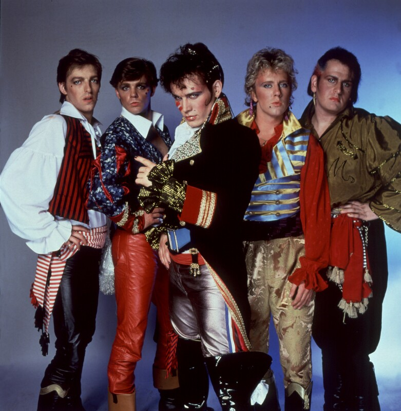 Adam and the Ants (Merrick (Chris Hughes); Terry Lee Miall; Adam Ant; Gary Tibbs; Marco Pirroni), by Allan Ballard, 1981 - NPG x125374 - © Allan Ballard / Scope Features