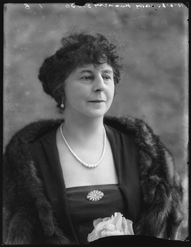 Edith Mary Emma (née Jenkyn), Lady Flannery, by Bassano Ltd, 10 August 1920 - NPG x75122 - © National Portrait Gallery, London