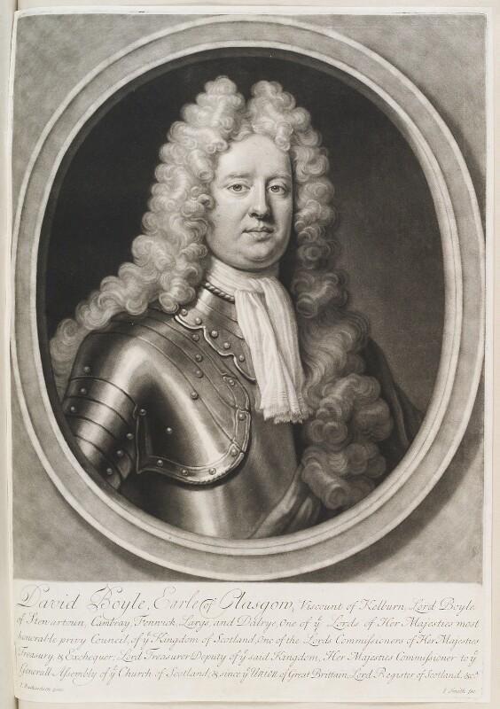 David Boyle, 1st Earl of Glasgow, by John Smith, after  Jonathan Richardson, 1711 - NPG D11578 - © National Portrait Gallery, London