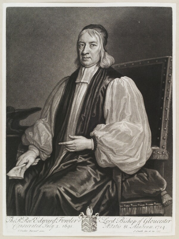 Edward Fowler, by and published by John Smith, after  Sir Godfrey Kneller, Bt, 1717 - NPG D11582 - © National Portrait Gallery, London