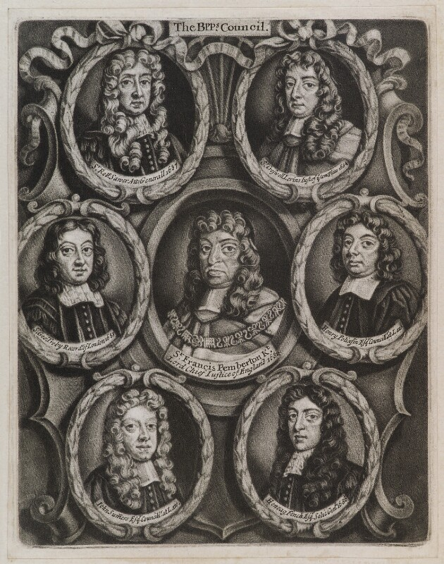 The Bishops' Council, possibly published by John Smith, after  Unknown artist, 1688 - NPG D11943 - © National Portrait Gallery, London
