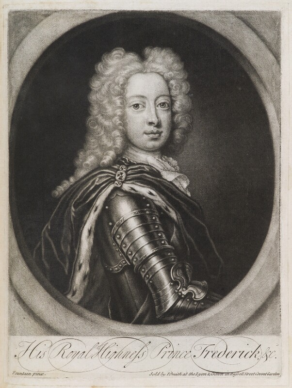 Frederick Lewis, Prince of Wales, published by John Smith, after  Georg Wilhelm Lafontaine (Fountain, Fontaine), 1724 - NPG D11937 - © National Portrait Gallery, London