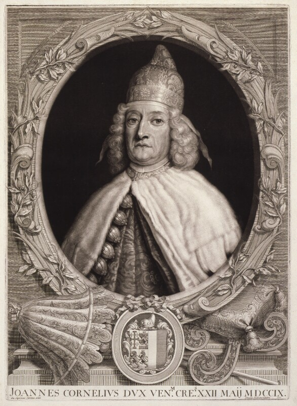 Giovanni Cornaro II, by John Smith, after  Giovanni Agostino Cassana, 1712 - NPG D11591 - © National Portrait Gallery, London