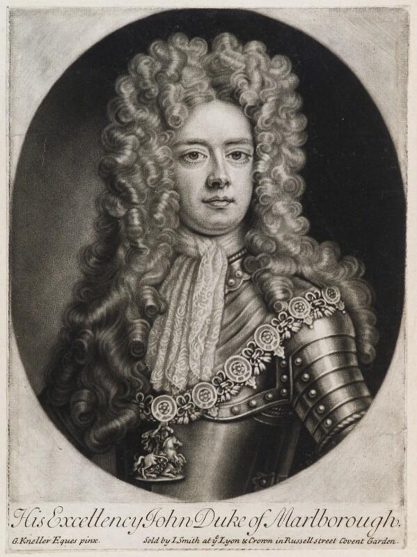 John Churchill, 1st Duke of Marlborough, published by John Smith, after  Sir Godfrey Kneller, Bt, 1705 - NPG D11948 - © National Portrait Gallery, London