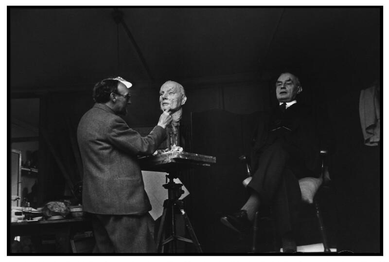 Frank Owen Dobson; Sir Edward Howard Marsh, by Humphrey Spender, 1938 - NPG x14270 - © National Portrait Gallery, London